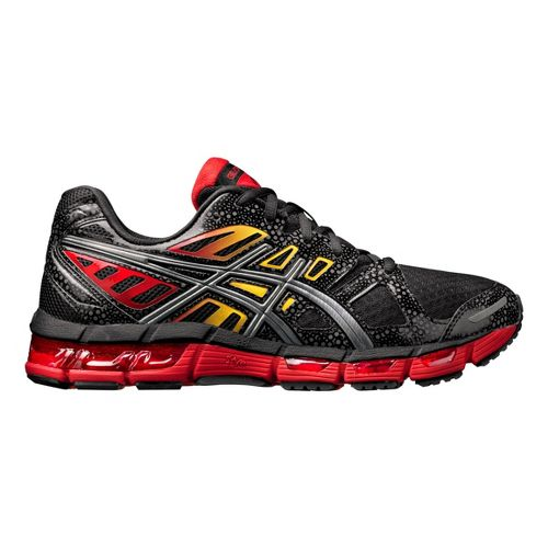 Mens ASICS GEL-Cirrus33 2 Running Shoe - Black/Red 10.5
