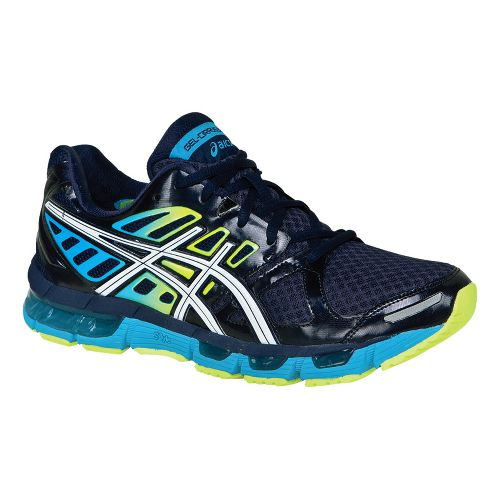 Mens ASICS GEL-Cirrus33 2 Running Shoe - Navy/White 12.5
