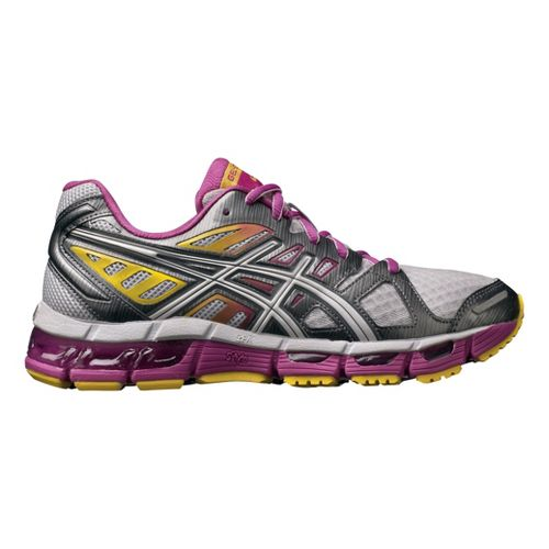 Womens ASICS GEL-Cirrus33 2 Running Shoe - White/Berry 6.5