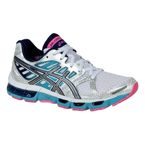Womens ASICS GEL-Cirrus33 2 Running Shoe - White/Lightning 6.5