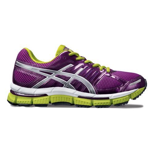 Womens ASICS GEL-Neo33 2 Running Shoe - Purple/Lime 5.5