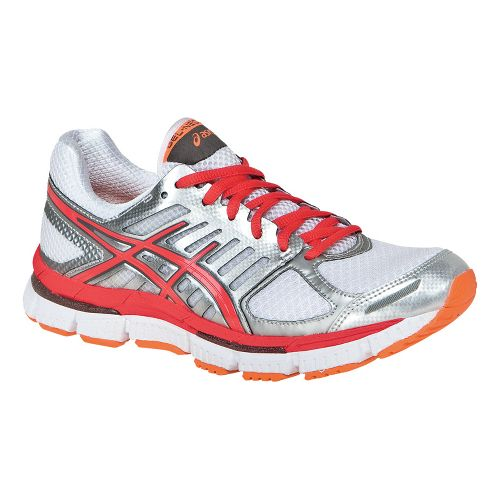 Womens ASICS GEL-Neo33 2 Running Shoe - White/Hot Punch 8.5