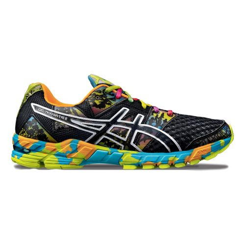 Mens ASICS GEL-Noosa Tri 8 Running Shoe - Black/Multi 7.5