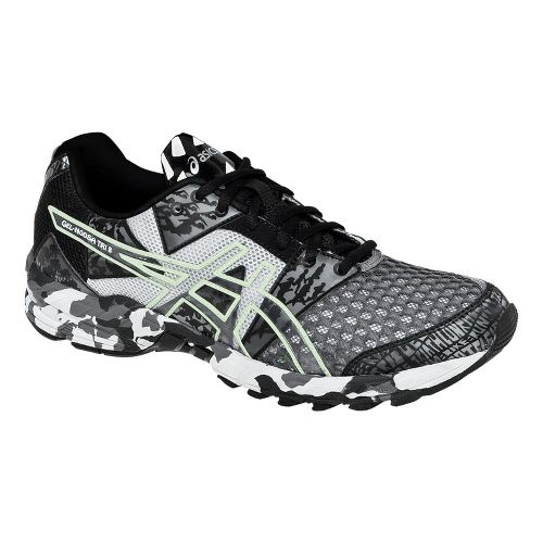 Mens ASICS GEL-Noosa Tri 8 Running Shoe - Black/White 11