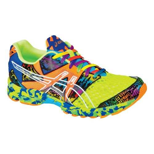 Mens ASICS GEL-Noosa Tri 8 Running Shoe - Flash Yellow/Flash Orange 12