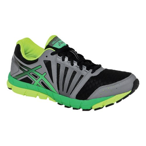 Mens ASICS GEL-Lyte33 2 Running Shoe - Black/Apple Green 8