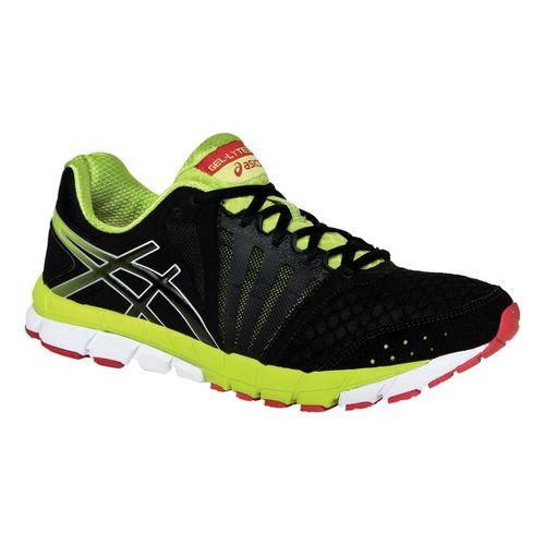 Mens ASICS GEL-Lyte33 2 Running Shoe - Black/Lime 7