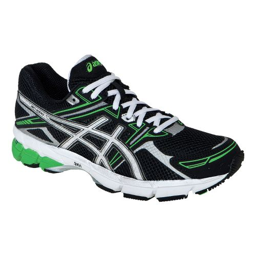 Kids ASICS GT-1000 GS Running Shoe - Black/White 2