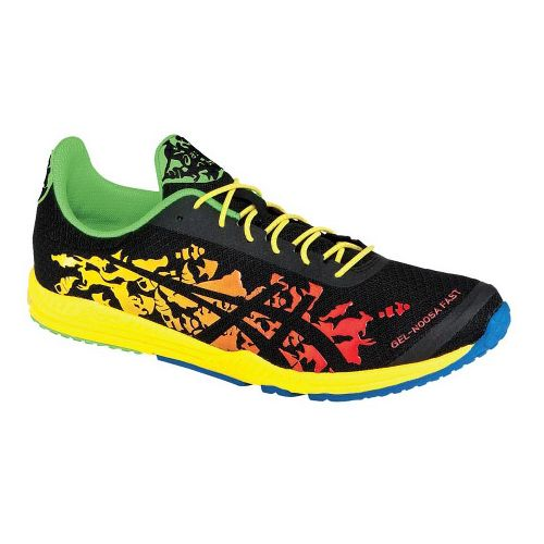 Mens ASICS GEL-Noosafast Racing Shoe - Black/Yellow 8.5