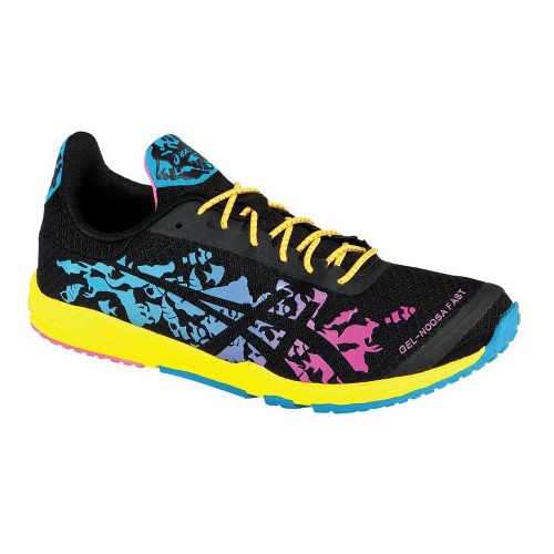 Womens ASICS GEL-Noosafast Racing Shoe - Black/Blue 7.5