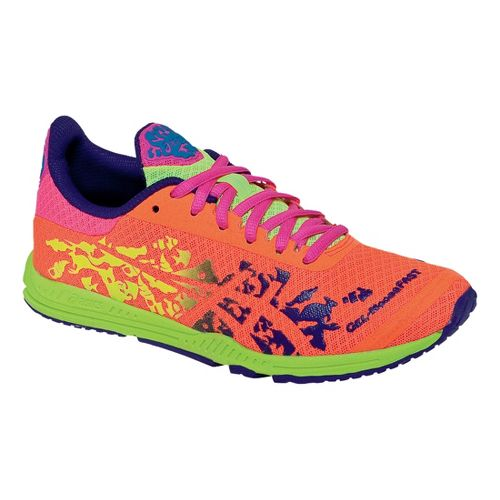 Womens ASICS GEL-Noosafast Racing Shoe - Hot Pink/Electric Orange 10.5