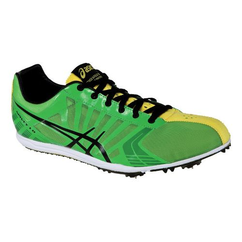 Mens ASICS Spivey LD Track and Field Shoe - Green/Yellow 9.5