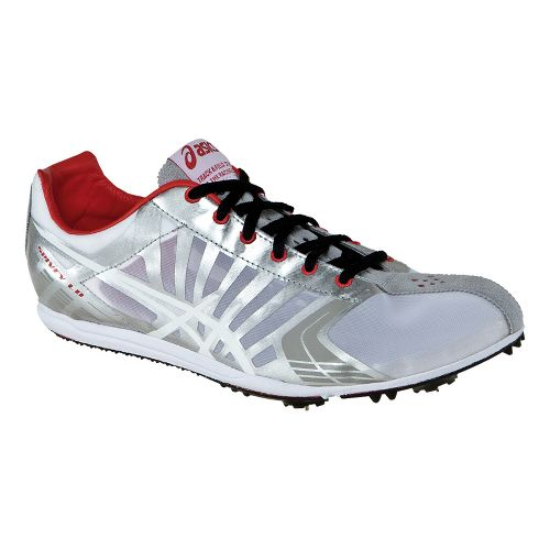 Mens ASICS Spivey LD Track and Field Shoe - Silver/White 10.5