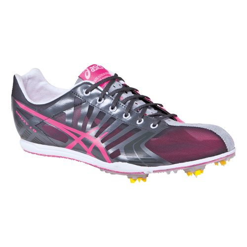 Womens ASICS Spivey LD Track and Field Shoe - Pink/Grey 8.5