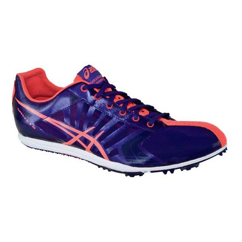 Womens ASICS Spivey LD Track and Field Shoe - Purple/Pink 10.5