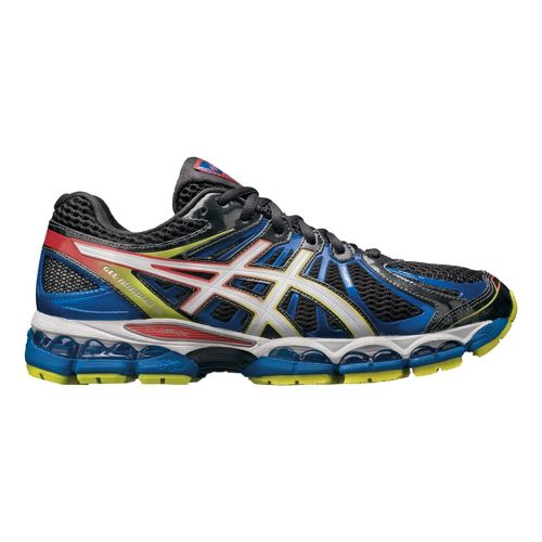 Mens ASICS GEL-Nimbus 15 Running Shoe - Black/Blue 16