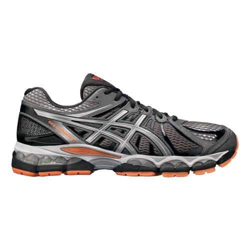 Mens ASICS GEL-Nimbus 15 Running Shoe - Grey/Orange 8.5