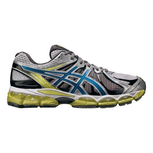 Mens ASICS GEL-Nimbus 15 Running Shoe - White/Lime 11