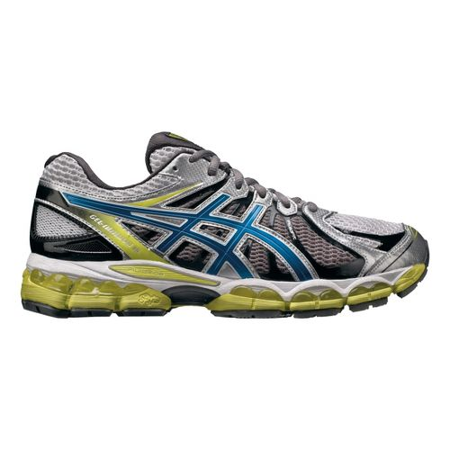 Mens ASICS GEL-Nimbus 15 Running Shoe - White/Lime 14