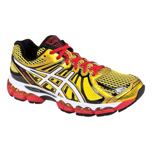 Mens ASICS GEL-Nimbus 15 Running Shoe - Yellow/Red 10