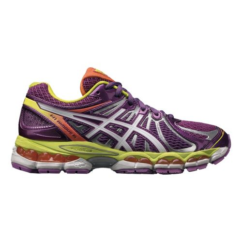 Womens ASICS GEL-Nimbus 15 Running Shoe - Purple/White 7