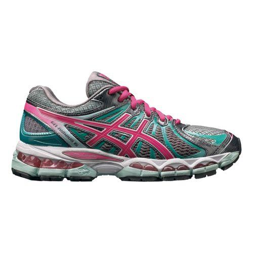 Womens ASICS GEL-Nimbus 15 Running Shoe - Titanium/Pink 11.5