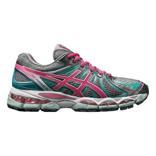 Womens ASICS GEL-Nimbus 15 Running Shoe - Titanium/Pink 10