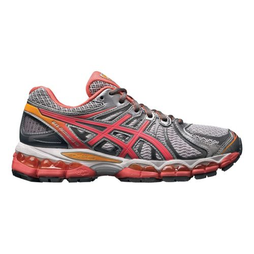 Womens ASICS GEL-Nimbus 15 Running Shoe - White/Coral 7.5