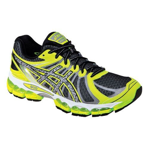 Mens ASICS GEL- Nimbus 15 Lite-Show Running Shoe - Black/Lime 11