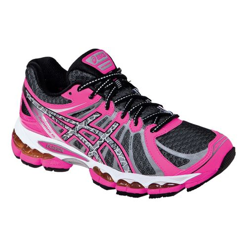 Womens ASICS GEL- Nimbus 15 Lite-Show Running Shoe - Black/Pink 10.5