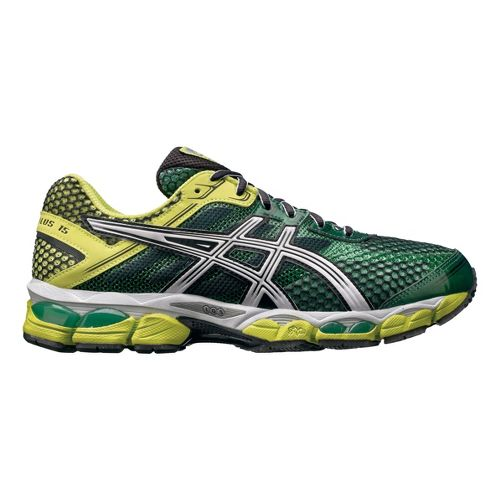 Mens ASICS GEL-Cumulus 15 Running Shoe - Green/Yellow 11