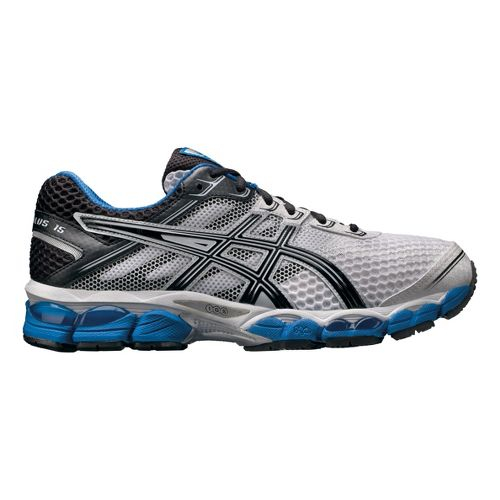 Mens ASICS GEL-Cumulus 15 Running Shoe - White/Blue 10.5