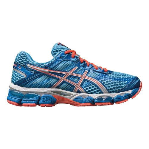 Womens ASICS GEL-Cumulus 15 Running Shoe - Turquoise/Melon 12.5