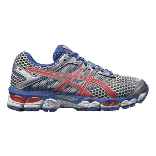 Womens ASICS GEL-Cumulus 15 Running Shoe - White/Lavender 13