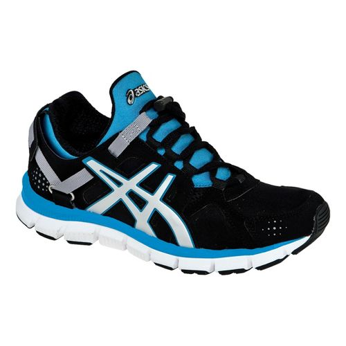 Womens ASICS GEL-Synthesis Cross Training Shoe - Black/Silver 12.5