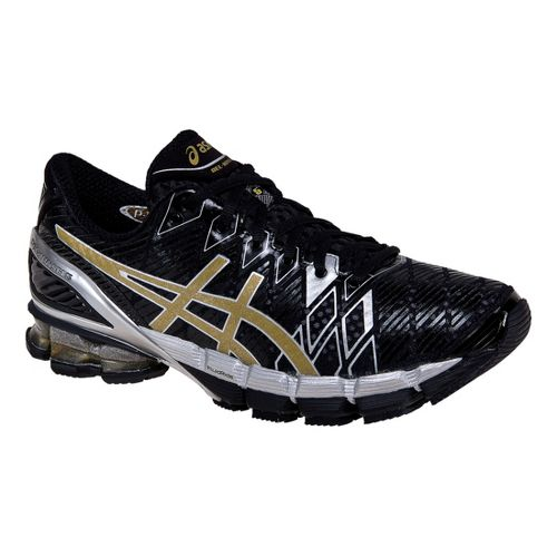 Mens ASICS GEL-Kinsei 5 Running Shoe - Black/Gold 13