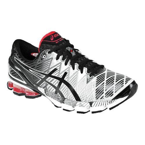 Mens ASICS GEL-Kinsei 5 Running Shoe - Black/Red 8