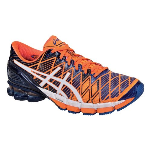 Mens ASICS GEL-Kinsei 5 Running Shoe - Flash Orange/White 12.5