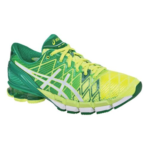 Mens ASICS GEL-Kinsei 5 Running Shoe - Flash Yellow/White 15