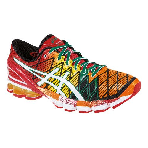 Mens ASICS GEL-Kinsei 5 Running Shoe - Red/White 12.5