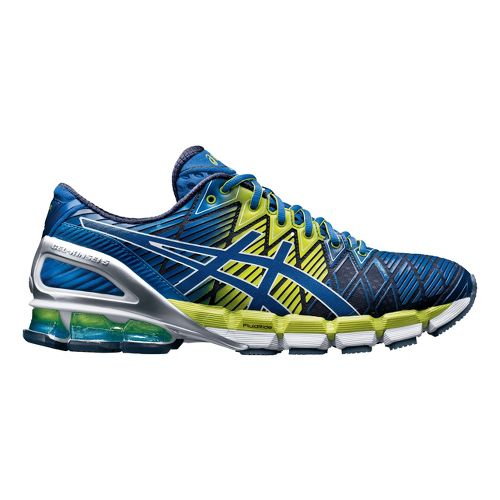 Mens ASICS GEL-Kinsei 5 Running Shoe - Royal/Lime 14