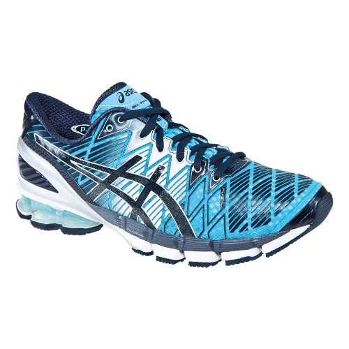 Mens ASICS GEL-Kinsei 5 Running Shoe - Turquoise/White 7