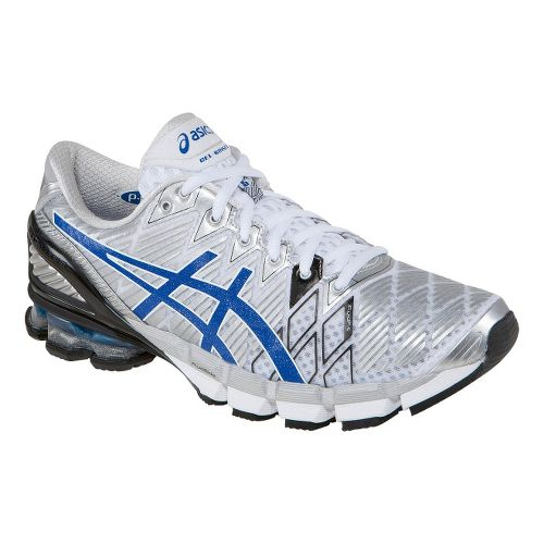 Mens ASICS GEL-Kinsei 5 Running Shoe - White/Blue 8.5