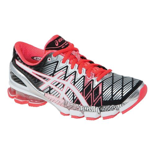 Womens ASICS GEL-Kinsei 5 Running Shoe - Black/Pink 8
