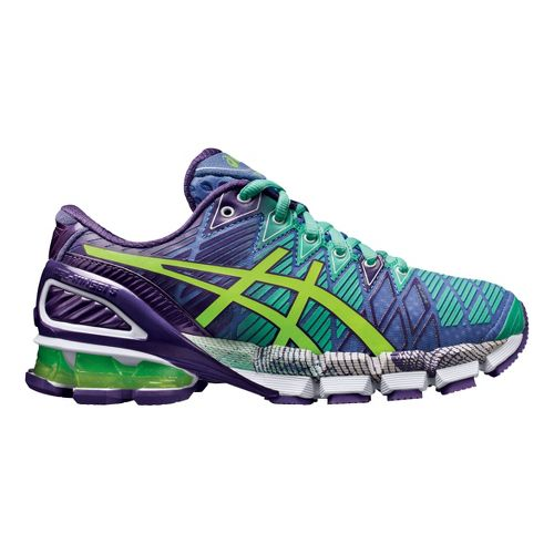 Womens ASICS GEL-Kinsei 5 Running Shoe - Purple/Mint 7.5