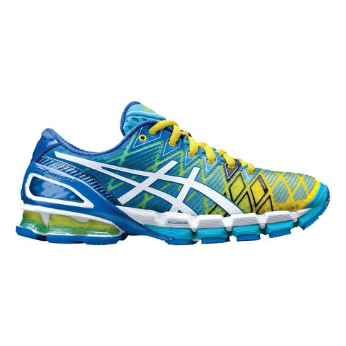 Womens ASICS GEL-Kinsei 5 Running Shoe - Turquoise/Yellow 7.5