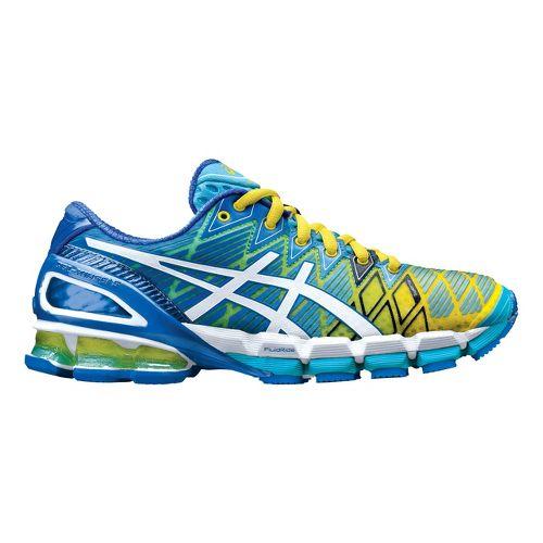 Womens ASICS GEL-Kinsei 5 Running Shoe - Turquoise/Yellow 9.5