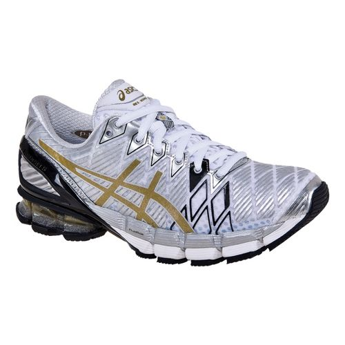 Womens ASICS GEL-Kinsei 5 Running Shoe - White/Gold 8.5