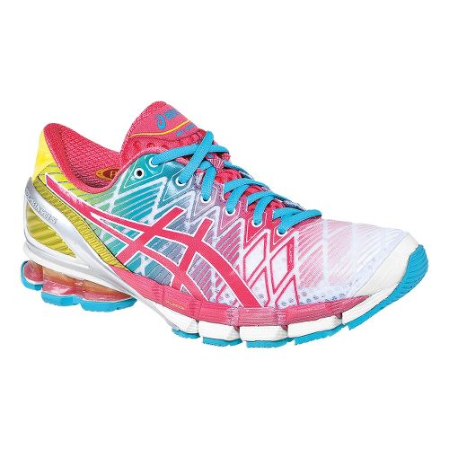 Womens ASICS GEL-Kinsei 5 Running Shoe - White/Teaberry 10.5