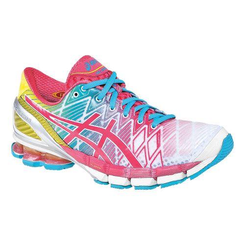 Womens ASICS GEL-Kinsei 5 Running Shoe - White/Teaberry 9.5